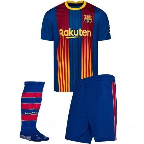 Детская четвертая форма Барселона (Barcelona) сезон 2020-2021 (футболка + шорты + гетры)