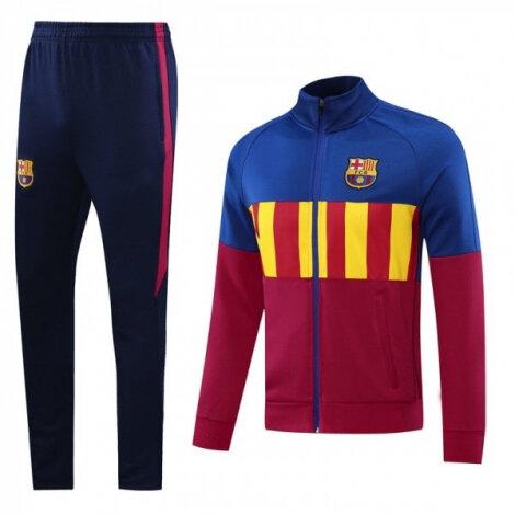 Тренировочный костюм Барселоны 2020-2021 сине-гранатовый