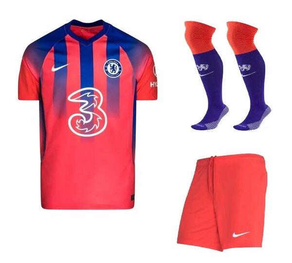 Челси резервная детская форма 2020-2021 (футболка + шорты + гетры)