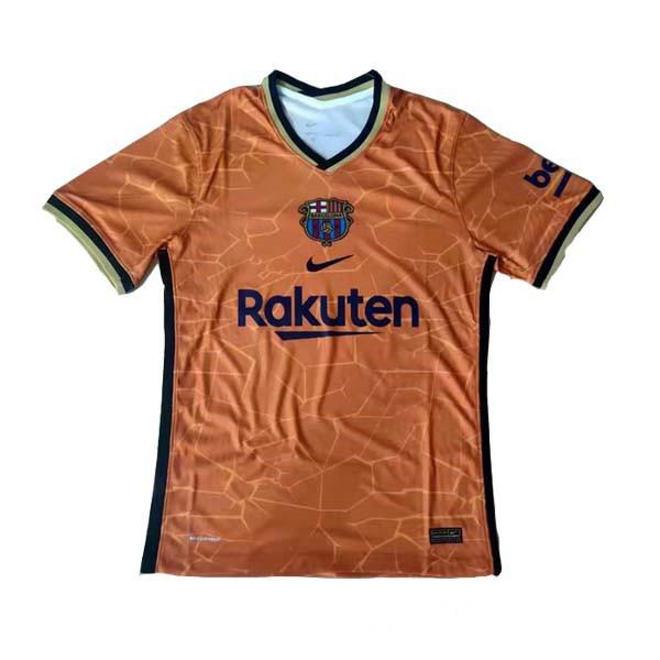 Барселона тренировочная футболка оранжевая 2021-2022